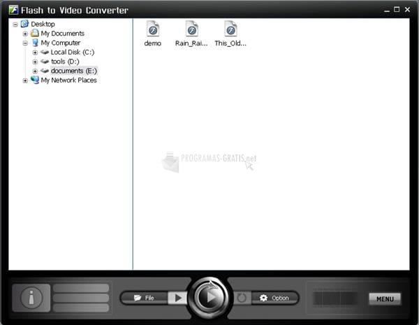 Pantallazo Flash to Video Converter