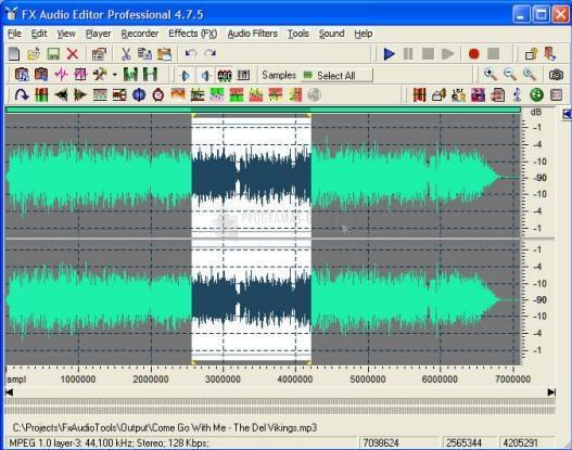 Pantallazo Fx Audio Editor Pro