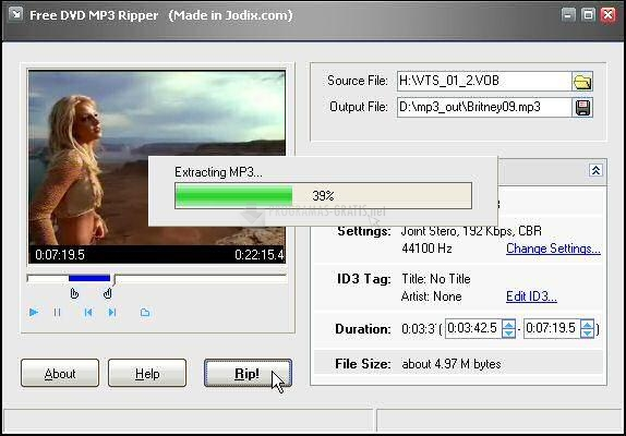 Pantallazo Free DVD MP3 Ripper