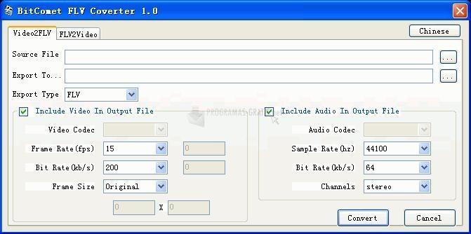 Pantallazo Bitcomet FLV Converter