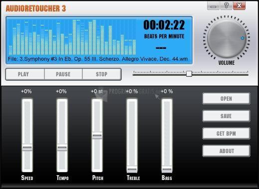 Pantallazo Audio Retoucher