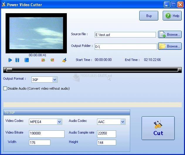 Pantallazo Power Video Cutter