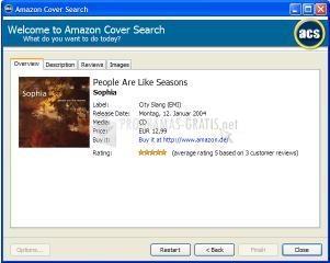Pantallazo Amazon Cover Search