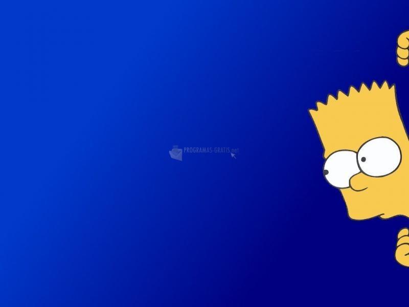 Pantallazo Bart asomándose
