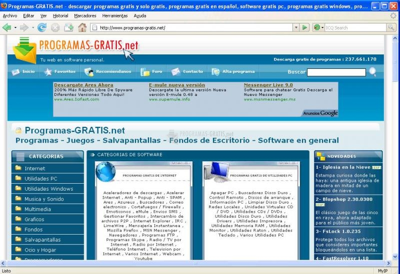 Pantallazo Mozilla Firefox (Win 9x/Me/2000)