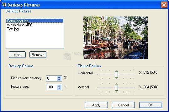 Pantalla Active Desktop Calendar
