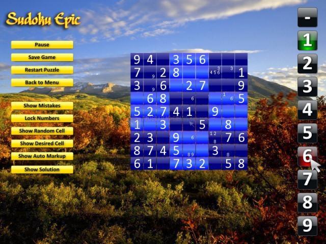 Pantallazo Sudoku Epic