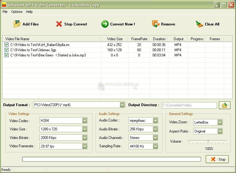 Pantallazo Softstunt MP4 Video Converter
