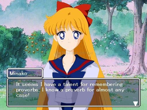 Pantallazo Sailor Moon Dating Simulator 2