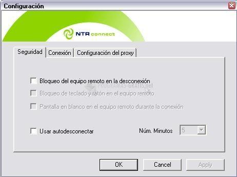 Pantallazo NTRConnect