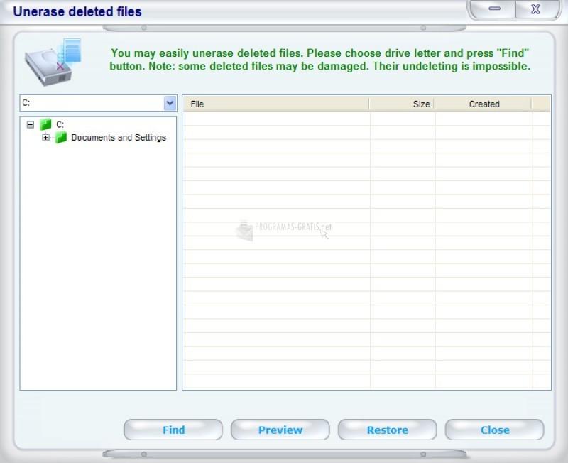 Pantallazo NT File Recovery