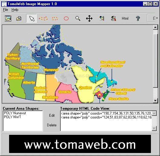 Pantallazo TomaWeb Image Mapper