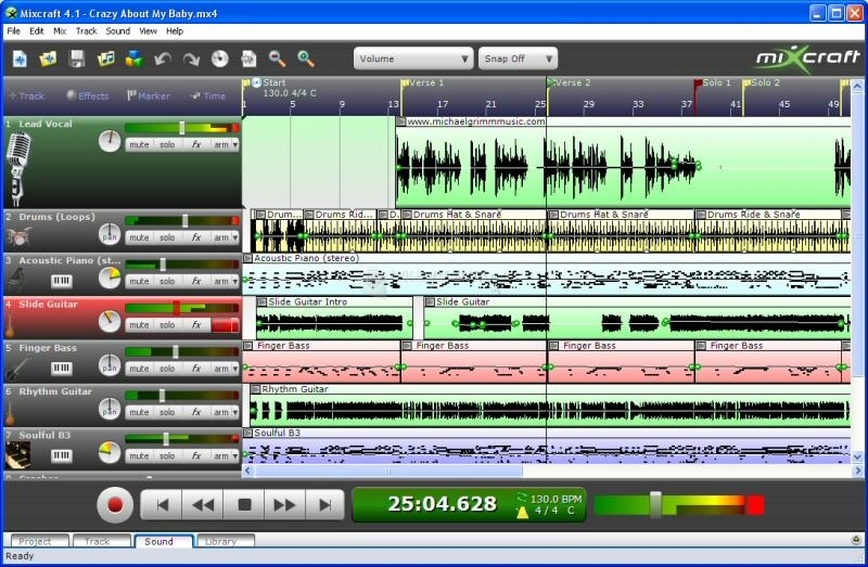 Pantallazo Acoustica Mixcraft