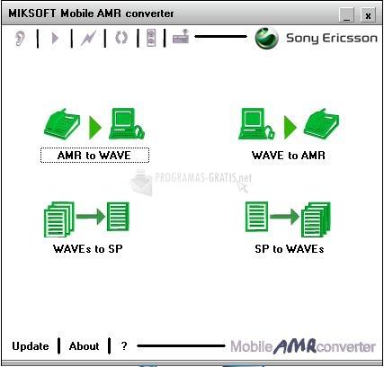 Pantallazo Miksoft Mobile AMR converter