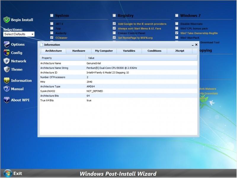 Pantallazo Windows Post-Install