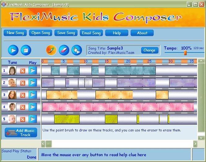 Pantallazo FlexiMusic kids Composer