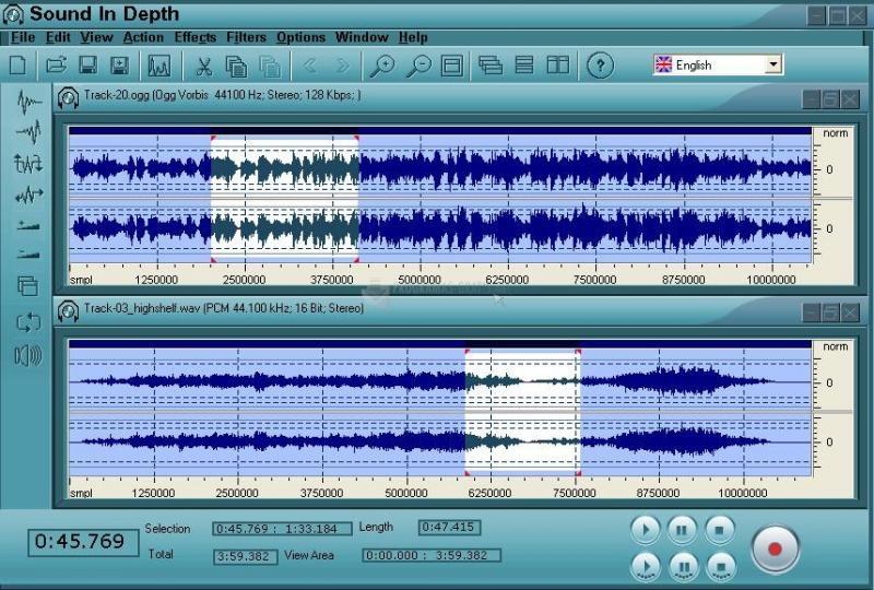 Pantallazo Sound InDepth