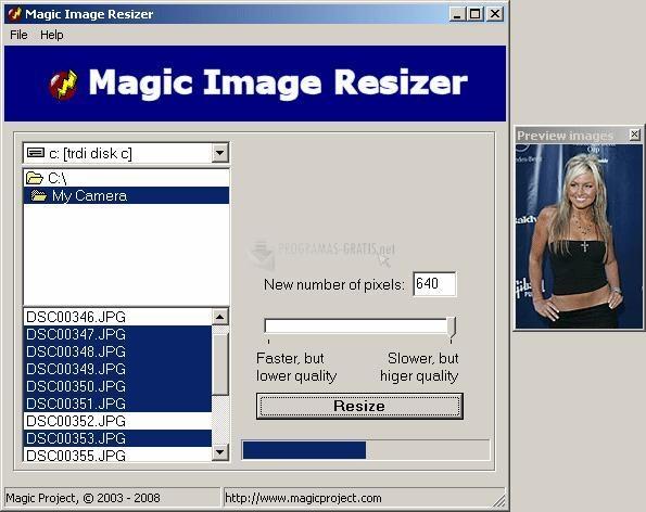 Pantallazo Magic Image Resizer