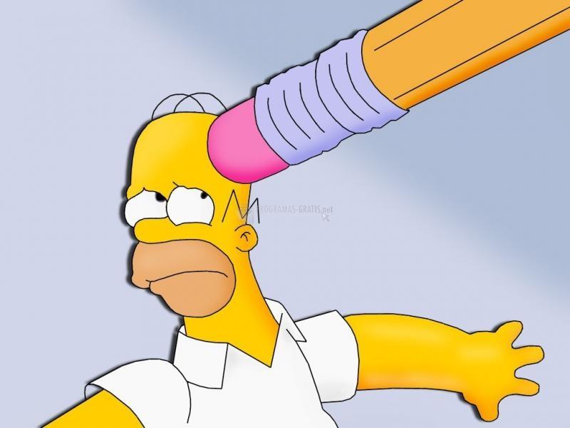 Pantallazo Borrando a Homer