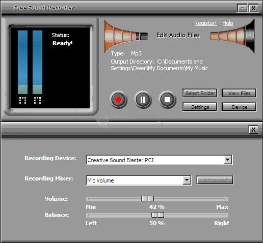 Pantallazo Free Sound Recorder