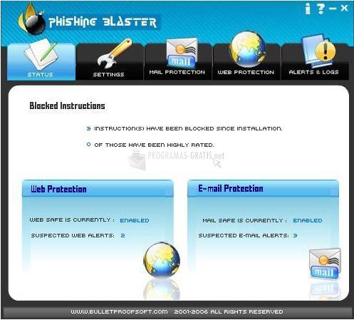 Pantallazo BPS Phishing Blaster