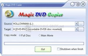 Pantallazo Magic DVD Copier (Fly DVD Copier)