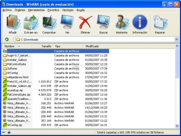 Pantallazo WinRAR Vista Ultimate Theme (48x48)