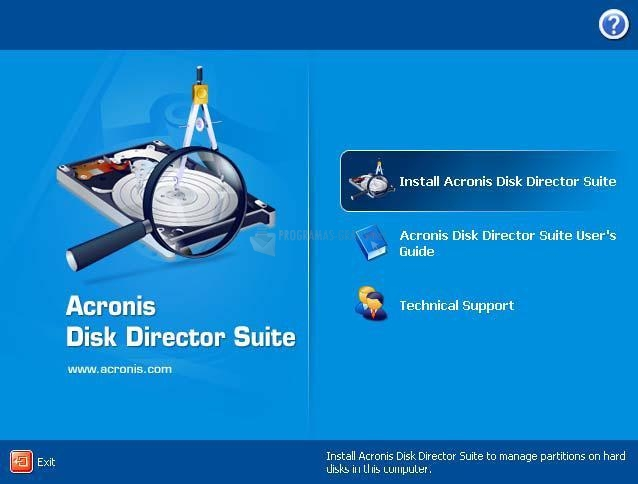Pantallazo Acronis Disk Director Suite