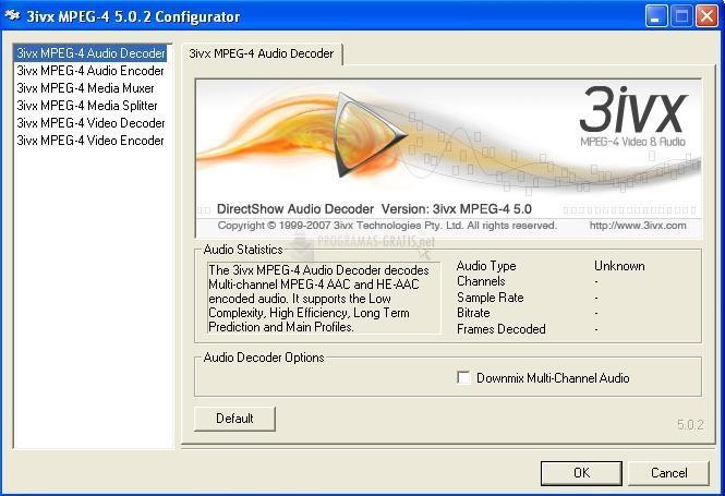 Pantallazo 3ivx MPEG-4