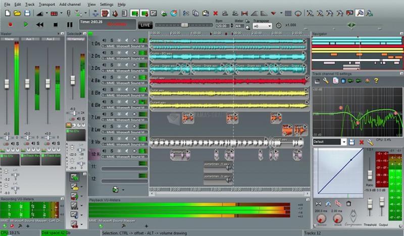 Pantallazo N-Track Studio