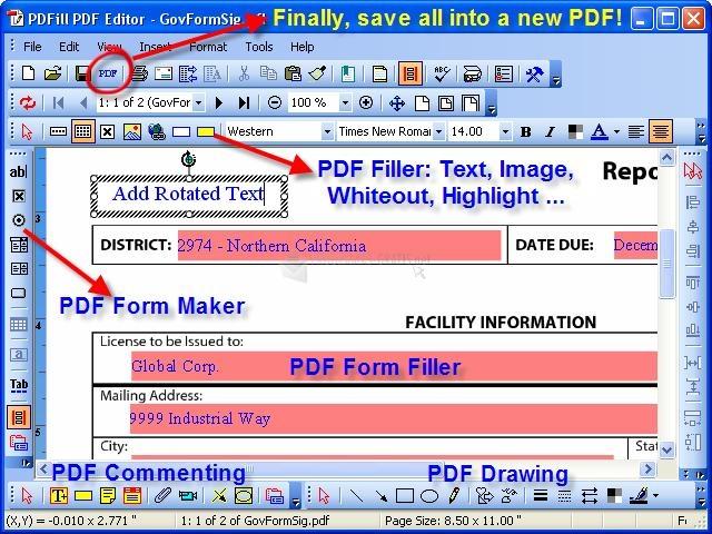 Pantallazo PDFill PDF Editor
