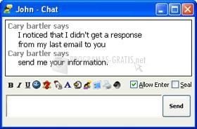 Pantallazo Outlook Messenger