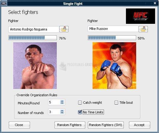 Pantallazo Ultimate MMA Simulator