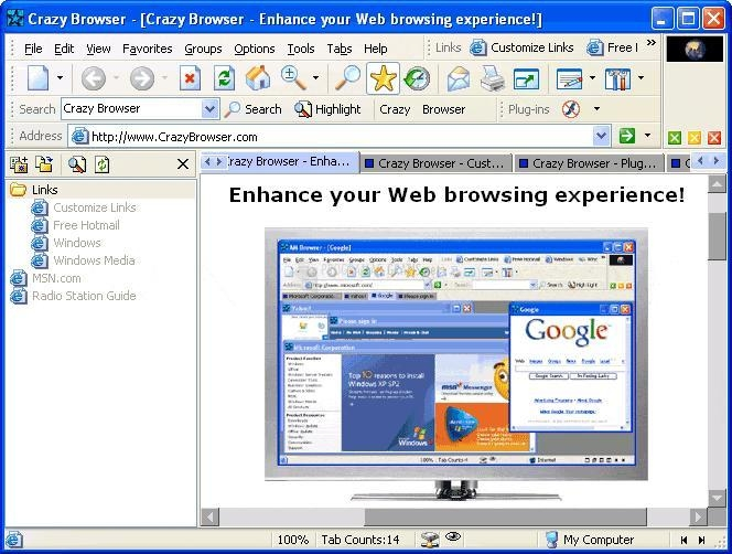 Pantallazo Crazy Browser
