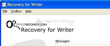 Pantallazo Recovery for Writer