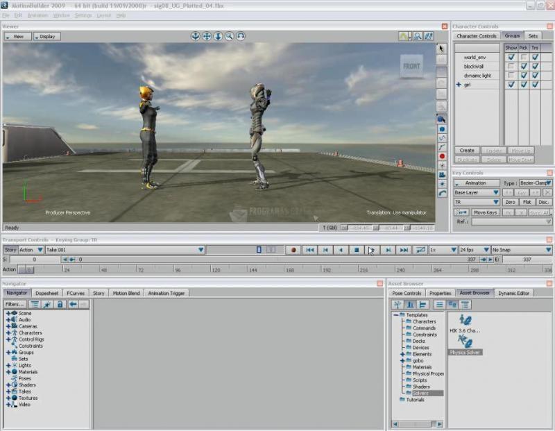 Pantallazo Autodesk MotionBuilder