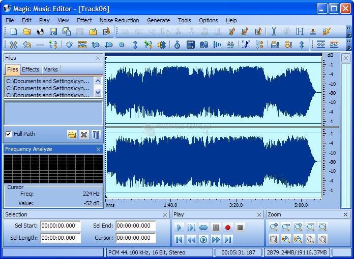 Pantallazo Magic Music Editor