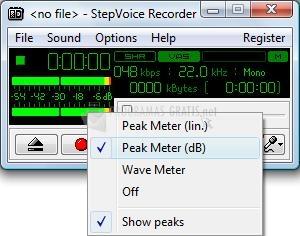 Screenshot StepVoice Recorder