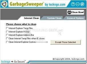 Pantallazo Garbage Sweeper