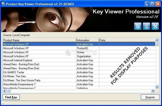 Pantallazo Windows Product Key Viewer Changer