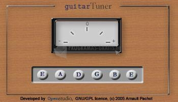 Pantallazo Guitar Tuner Java Applet