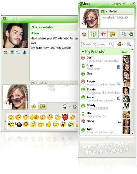 Pantallazo ICQ