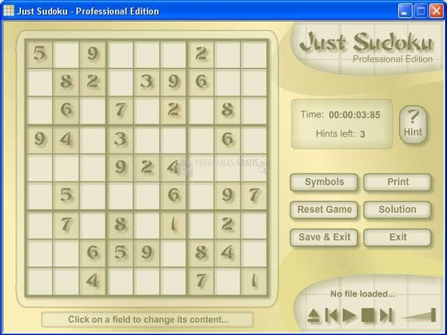 Pantallazo Just Sudoku Professional Edition