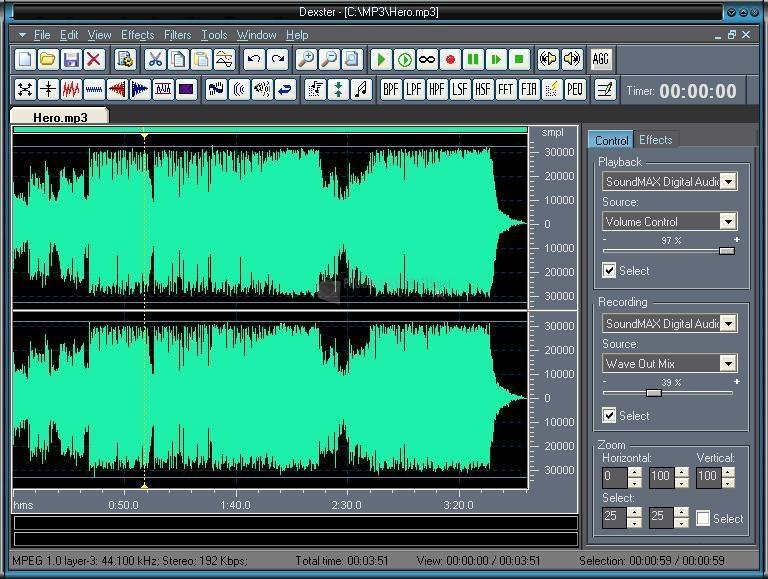 Pantallazo Dexster Audio Editor