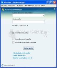 Pantallazo Windows Live Messenger Portable