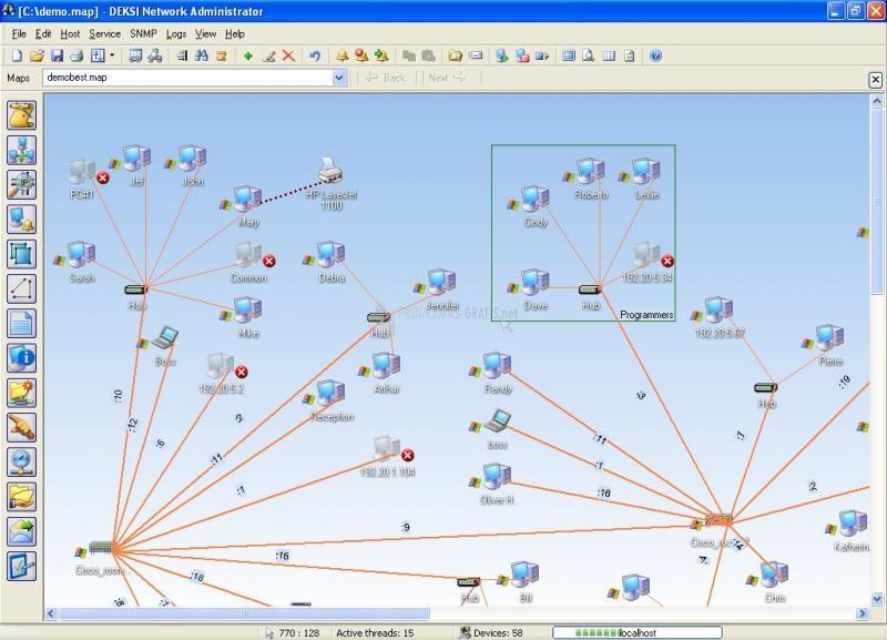 Pantallazo DEKSI Network Inventory