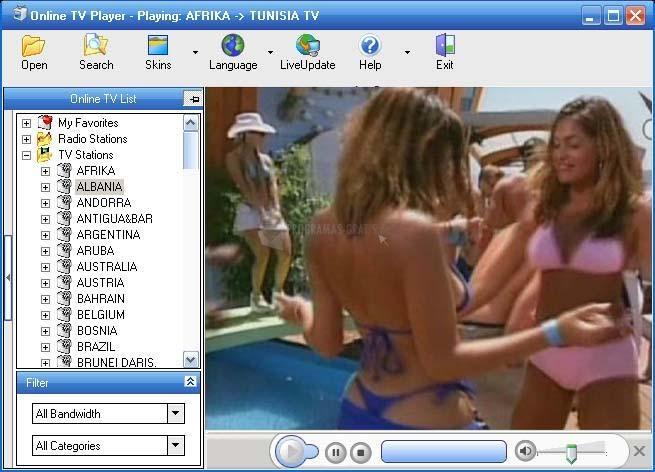 Pantallazo Online TV Player