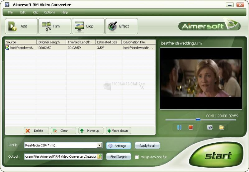 Pantallazo Aimersoft RM Video Converter