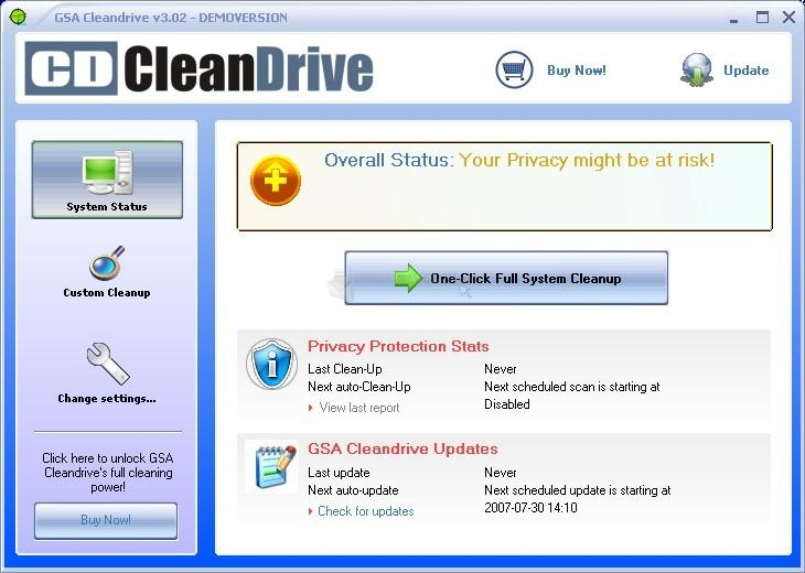 Pantallazo GSA Cleandrive