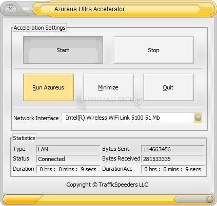 Pantallazo Azureus Ultra Accelerator